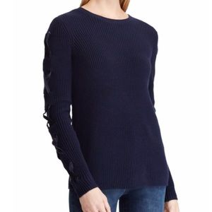 NWT Ralph Lauren Lace Up Plus Size Sweater